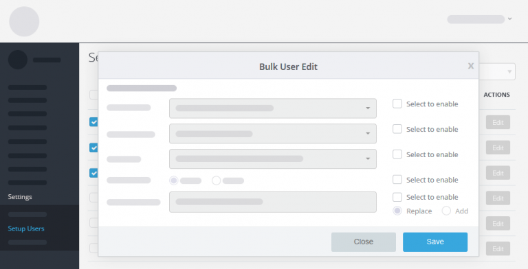 bulk user edit