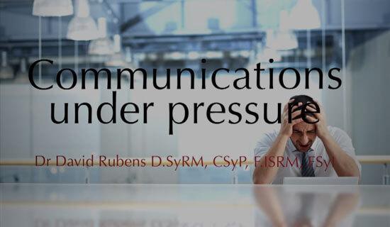 Communication Under Pressure - Video