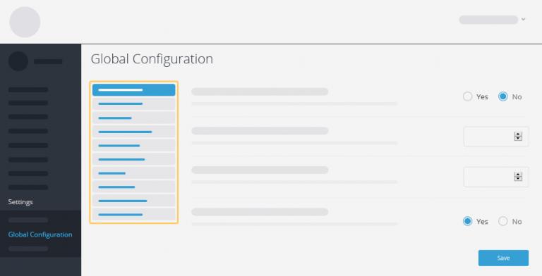 Global Configuration Improvements