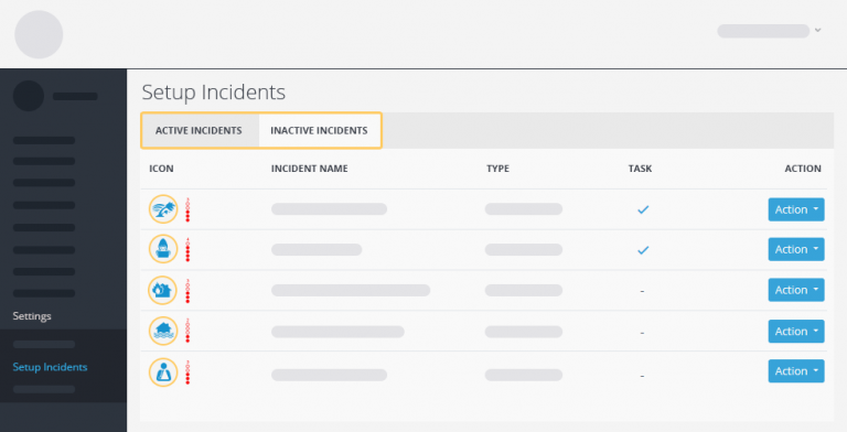 incident tabs