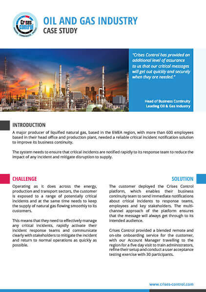 Case Study - Oil and Gas Producer